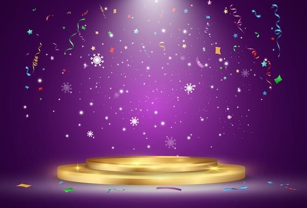 Uroczystość z ilustracją konfetti
