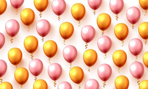 Uroczysty kolor złoty balon tło strony. ilustracja wektorowa