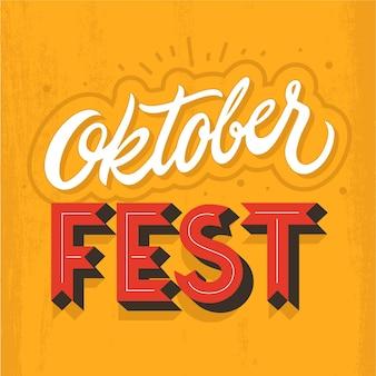 Uroczysty napis oktoberfest