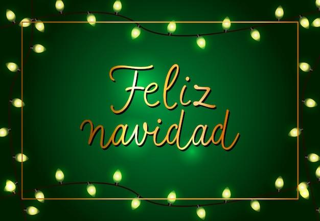 Uroczysty projekt plakatu feliz navidad. świąteczne girlandy