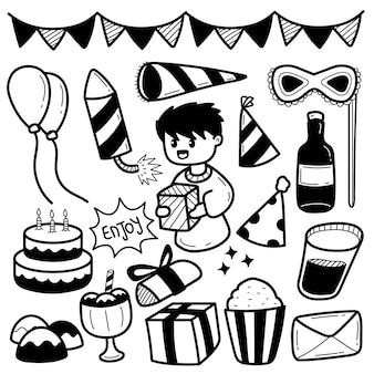 Urodzinowa ilustracja doddle
