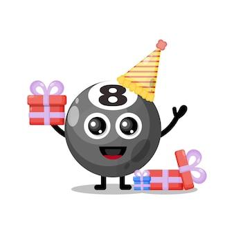 Urodzinowa kula bilardowa słodka maskotka postaci