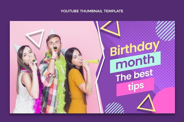 Urodzinowa miniatura youtube z gradientem półtonów