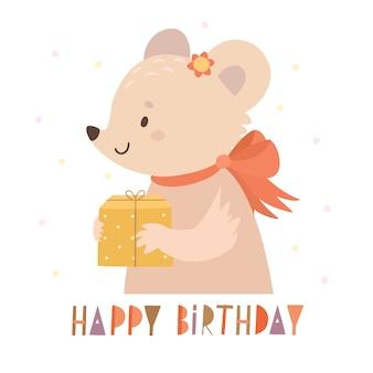 Urodzinowa mysz i prezent