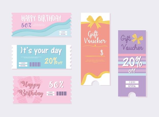 Urodzinowe karty podarunkowe