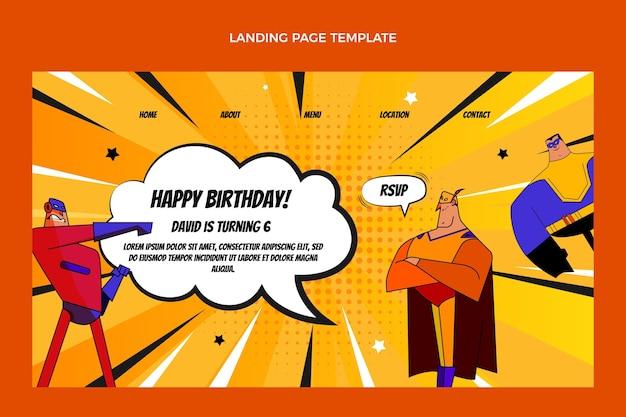 Urodzinowy szablon strony docelowej z gradientem półtonów