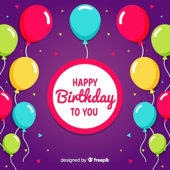 Urodziny balon tło