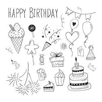 Urodziny doodle tło