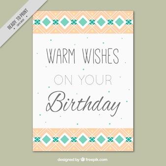 Urodziny kartkę z życzeniami z geometryczną dekoracją