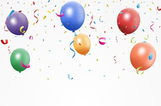Urodziny kolorowe balony z konfetti