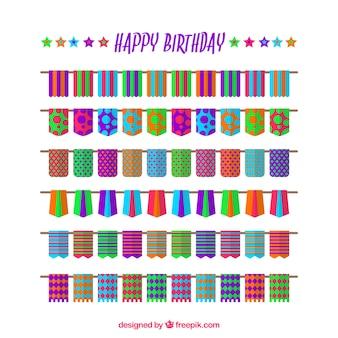 Urodziny kolorowe girlandy