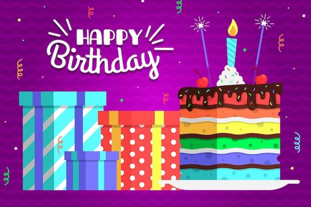 Urodziny kolorowe tło wzór