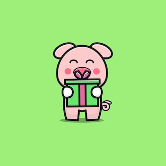 Urodziny słodkie świnia