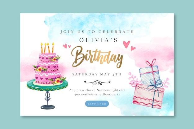 Urodziny szablon poziomy baner