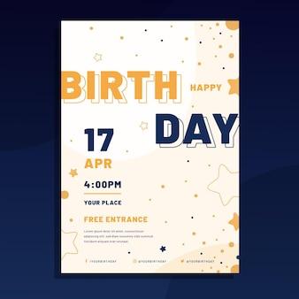 Urodziny szablonu ulotki płaskiej a5