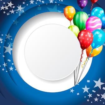 Urodziny tło uroczystości, balon urodziny