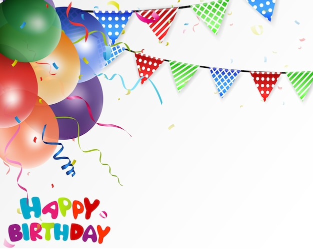 Urodziny uroczystości tło z kolorowymi konfetti
