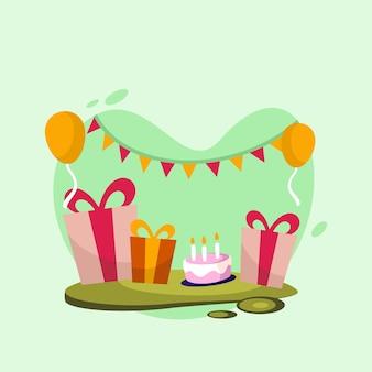 Urodziny wektor logo ikona ilustracja