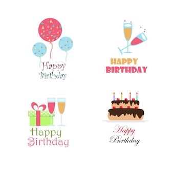 Urodziny wektora projektowania logo kolekcji