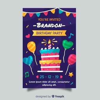 Urodziny zaproszenie dla dzieci szablon