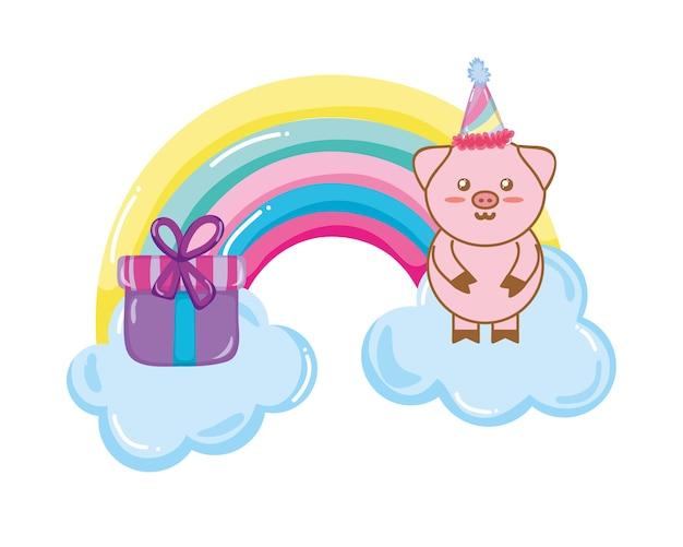 Urodziny zwierząt kreskówki