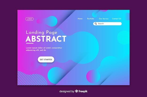 Uruchamianie abstrakcyjnej niebieskiej strony docelowej
