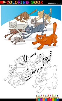 Uruchamianie kotów dla kolorowanka lub strony