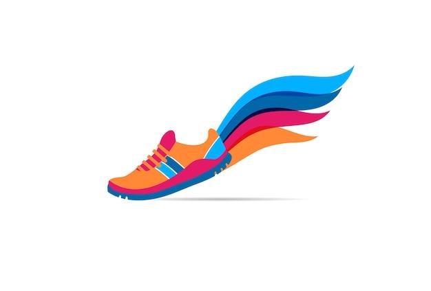 Uruchom ikonę symbolu maratonu plakat i logo
