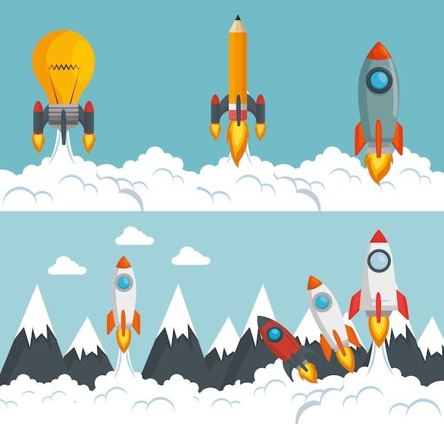 Uruchom program uruchamiający rakiety