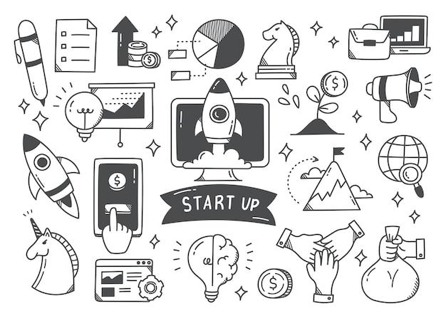 Uruchomić zestaw doodle koncepcji