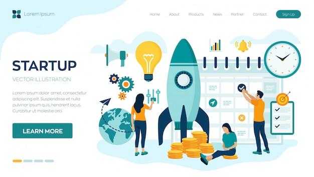 Uruchomienie projektu biznesowego startupu.