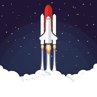 Uruchomienie rakiety koncepcja ilustracji wektorowych