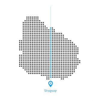 Urugwaj z zapałem projektował mapę wektor