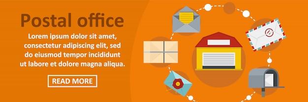 Urząd pocztowy transparent szablon poziome koncepcji