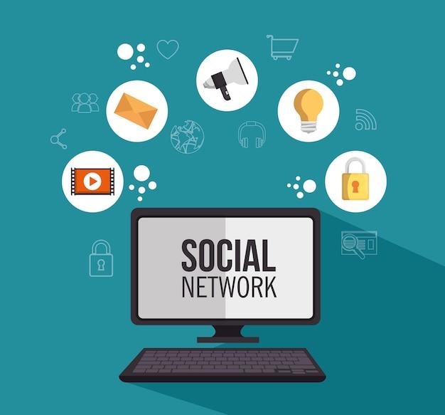 Urządzenie do komunikacji sieci społecznościowej