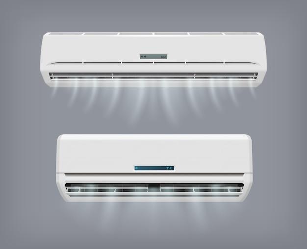 Urządzenie wektorowe klimatyzatora do klimatyzacji domu.