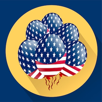 Usa balony patriotyczne