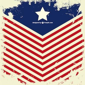 Usa flag wektor grunge design