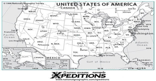 Usa mapa