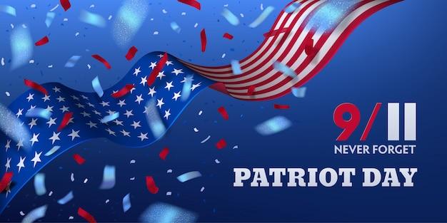 Usa patriot dzień poziomy projekt