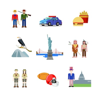Usa stany zjednoczone. obywatel kultury amerykańskiej