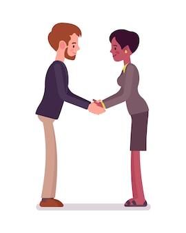 Uścisk dłoni biznesmen i interesu dwie ręce