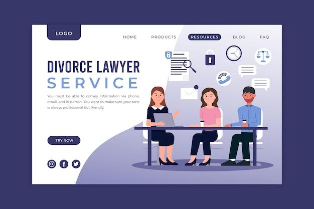 Usługa adwokacka ds. rozwodów - strona docelowa