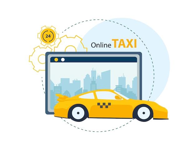 Usługa aplikacji do zamawiania taksówek online.
