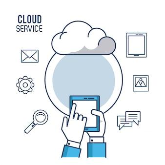 Usługa cloud computing ilustracji