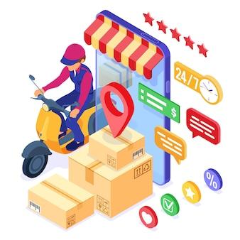 Usługa dostarczania paczek zamówień online
