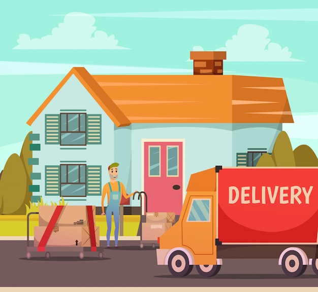 Usługa dostawy kurierskiej ortogonalna