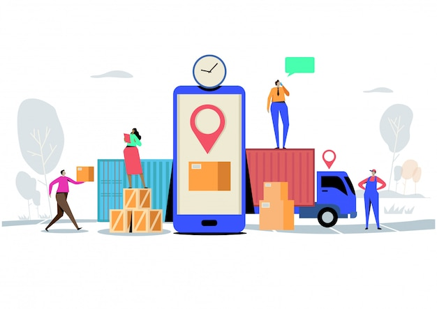Usługa dostawy online.