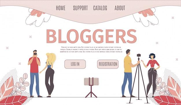 Usługa hostingu dla płaskiej strony blogerów