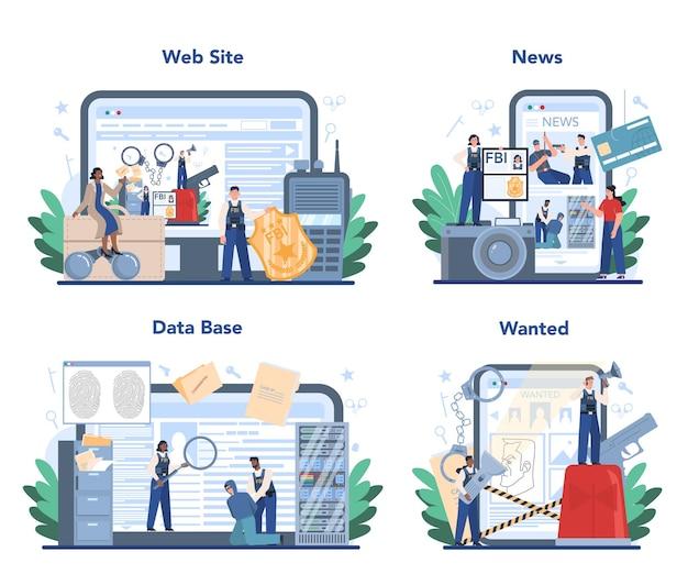 Usługa internetowa lub zestaw platform agenta fbi